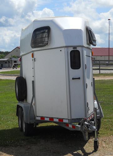 Brenderup single horse bumper pull trailer