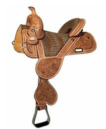 Buckstitch Treeless Barrel Saddle