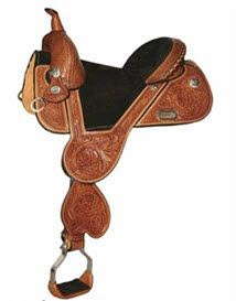 Jackie Jatzlua Tulip Treeless Barrel Saddle - by Circle Y