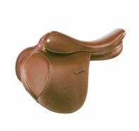 Example of forward cut flaps on jumping saddles