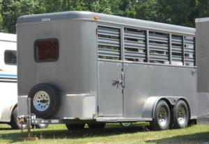 Stock horse trailer types generally have slatted sides with open box stall