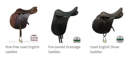Used english saddles, dressage saddles