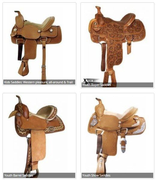 Huge selection of youth saddles